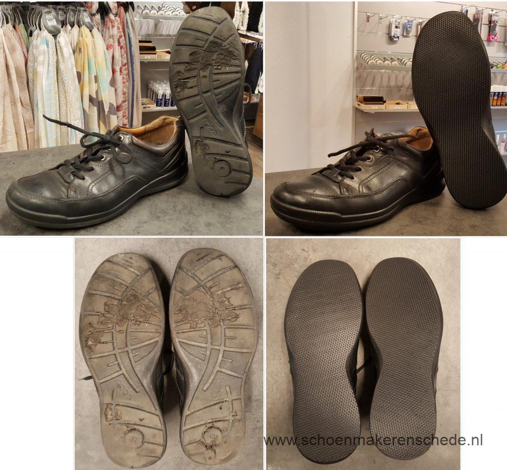 Versleten Ecco schoenen nieuwe zolen