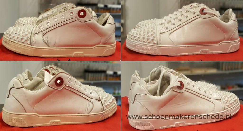 Sneakers wit verven