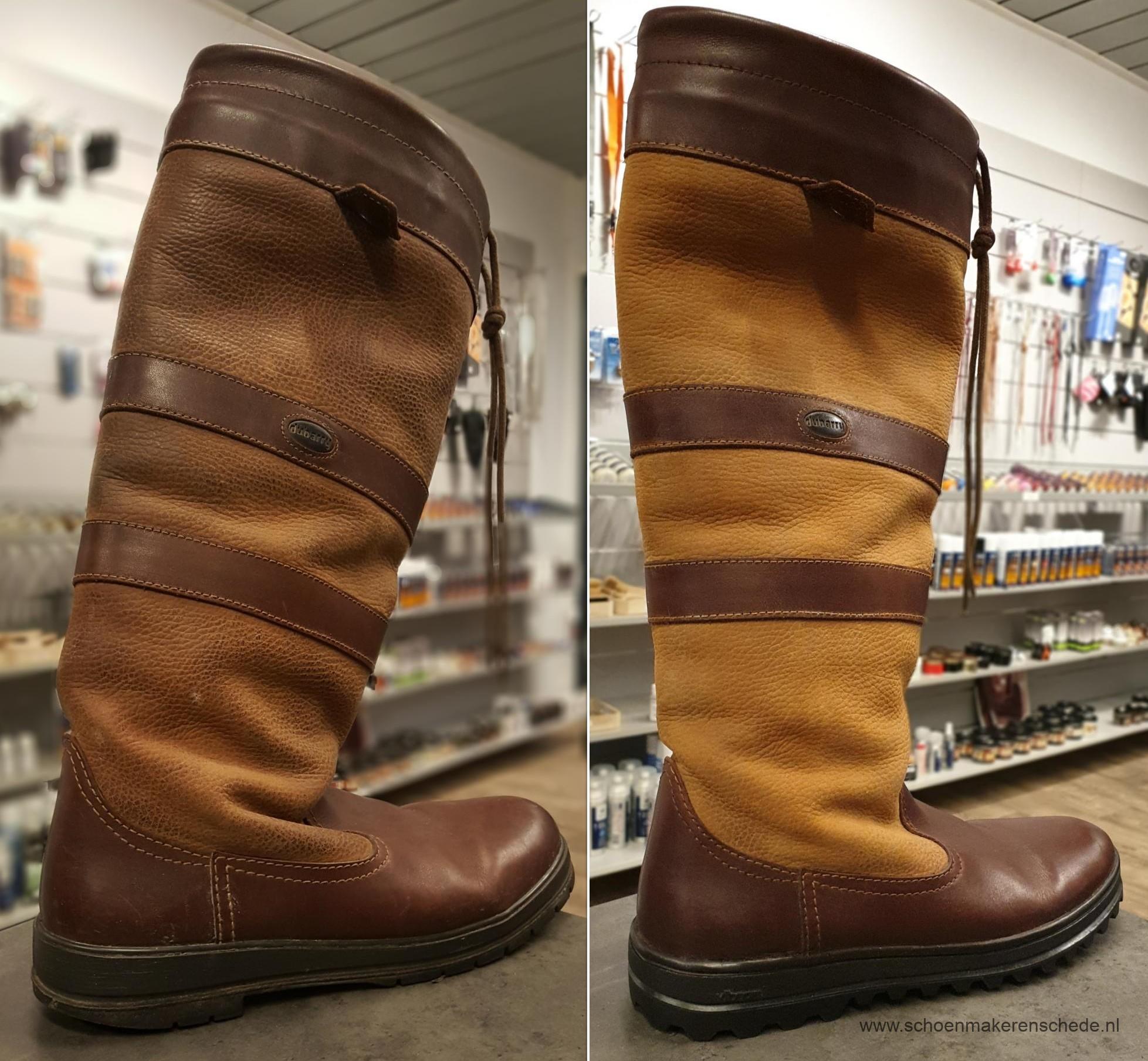 Dubarry laarzen verzolen – Schoenmaker Enschede