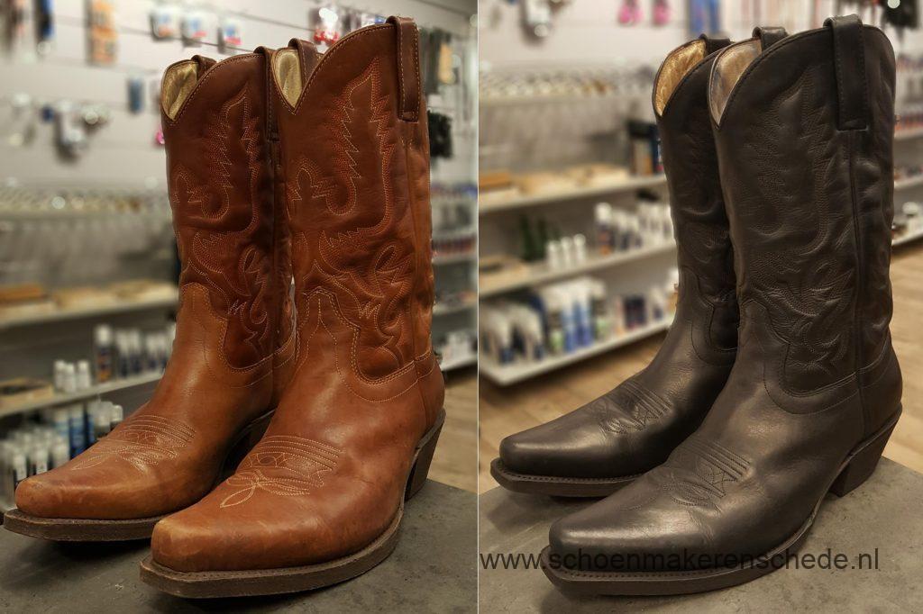 Schoenmaker Enschede - Sendra laarzen geverfd