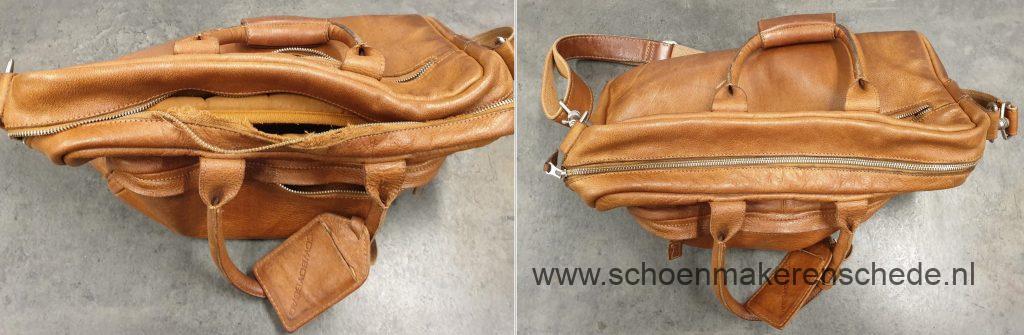 Schoenmaker Enschede - Cowboysbag nieuwe rits