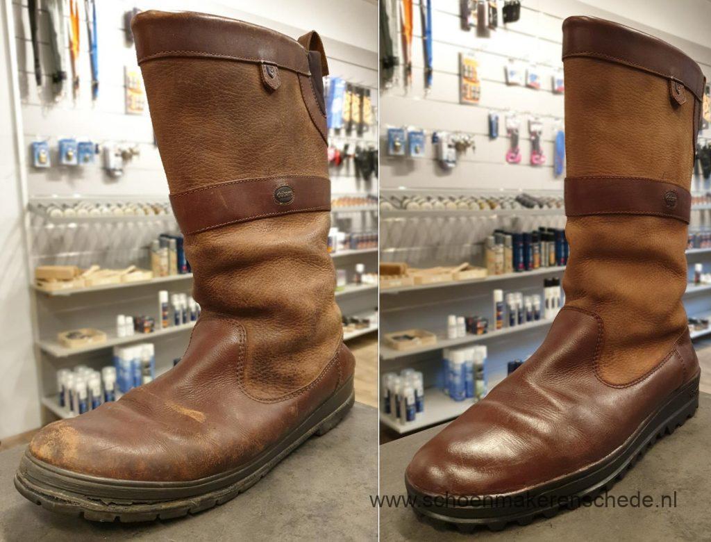 Schoenmaker Enschede - Dubarry laarzen verzolen