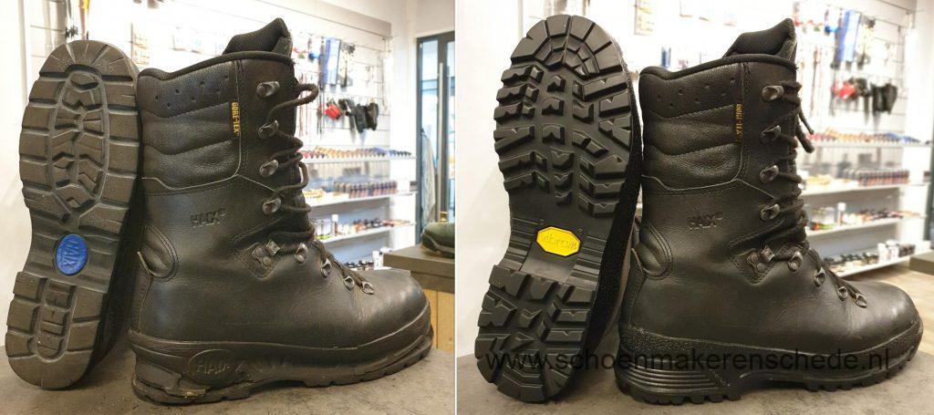 Schoenmaker Enschede - HAIX werkschoenen nieuwe zolen