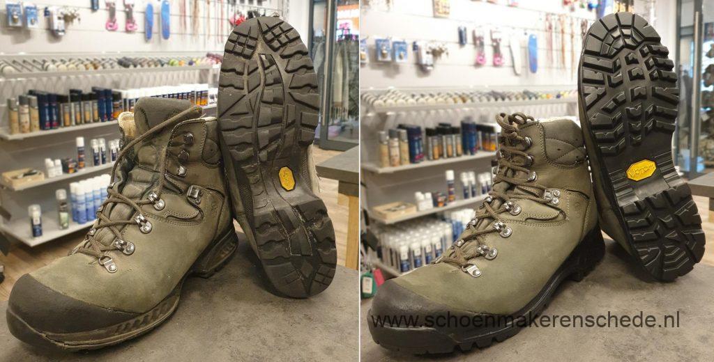 Schoenmaker Enschede - Hanwag wandelschoenen nieuwe zolen