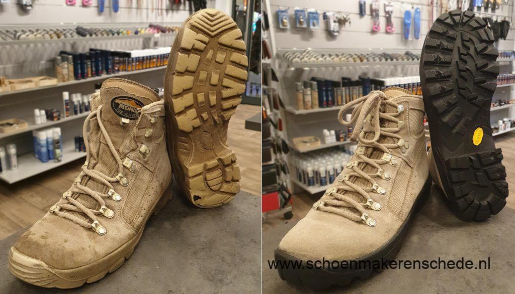 Schoenmaker Enschede - Meindl werkschoenen nieuwe zolen