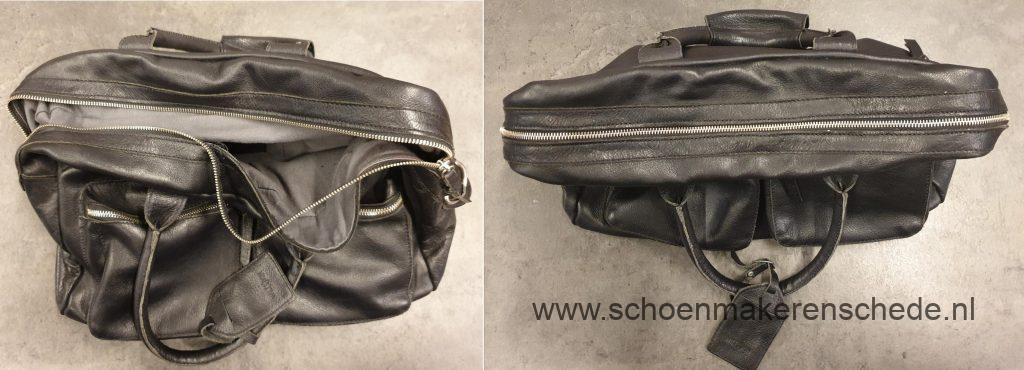 Schoenmaker Enschede - Nieuwe rits in tas