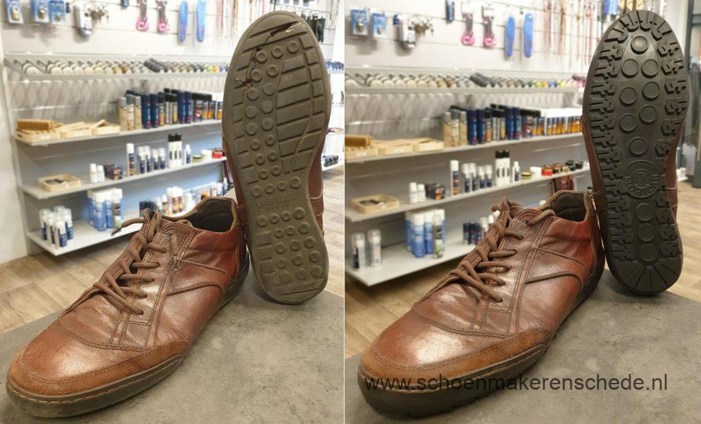 Schoenmaker Enschede - van Lier sneakers nieuwe zolen