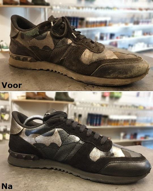 Sneaker verven, schoonmaken, stomen.
