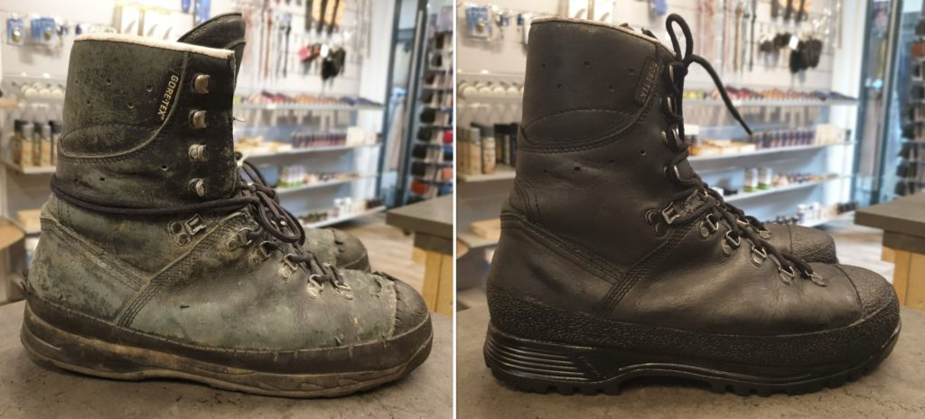 Werkschoenen verzolen, nieuwe zolen